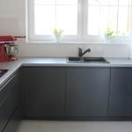 Kuchnia antracyt + aluminium